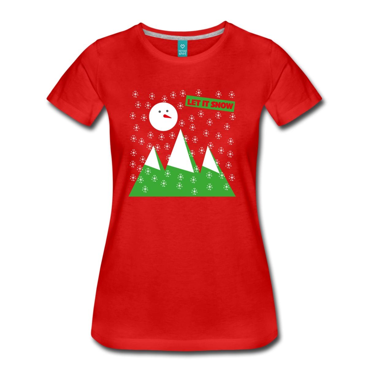 let-it-snow-frauen-premium-t-shirt