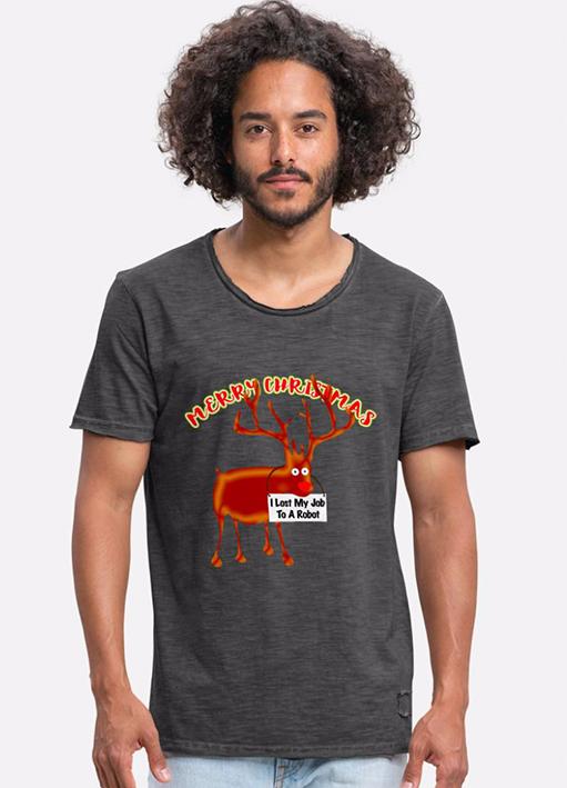 T-Shirt Weihnachtsmotiv mit Rudolph