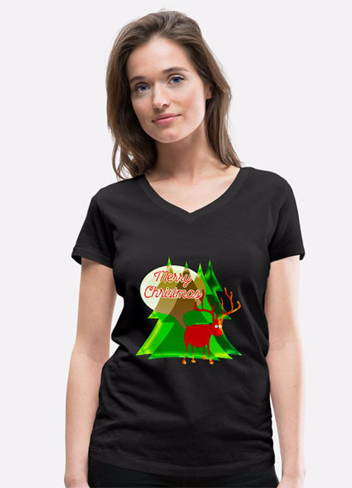 Rudolf T-Shirt Motiv für Weihnachten
